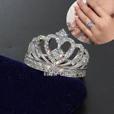 crown style rings images Vecalon crown style women fashion jewelry ring aaaaa zircon cz 925 jpg