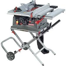 craftsman 10 portable table saw craftsman 10 jobsite table saw with folding stand 28463 shop