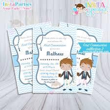 communion invitations for boys communion invitations boy invitation party