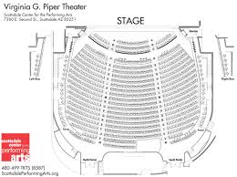 seating chart of virginia g piper theater
