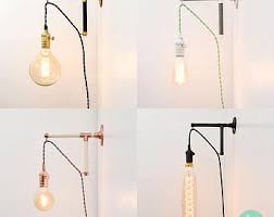 Plug In Sconces Wall Lamps Plug In Wall Sconce Etsy