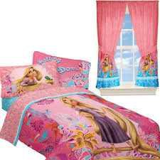Rapunzel Duvet Cover Disney Tangled Twin Bedding And Curtain Set Rapunzel Letting Down