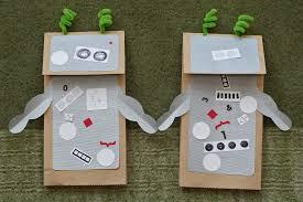 daily art robot puppets warm chocolate