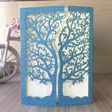 online get cheap blue silver wedding invitations aliexpress com