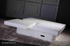 Contemporary White Coffee Table by Decorating Gray Shag Carpet And Gray Cabinet Plus Expandable