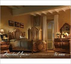 Michael Amini Bedroom Furniture Michael Amini Trevi Bedroom Collection Natural And Light Brown