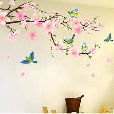 home decors online shopping wall decors online shopping romantic peach blossom and swallow