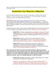 Example Objectives For Resume by I Need An Objective For My Resume 19 What To Write On Free Mailing