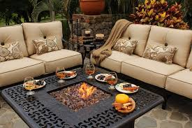 alderbrook faux wood fire table alderbrook faux wood fire table outdoor dining with pit curved bench
