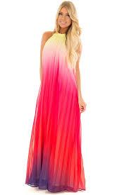ombre maxi dress berry multi ombre halter maxi dress lime lush boutique