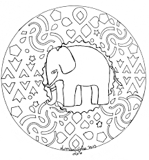 mandala domandalas elephant domandalas coloring pages for