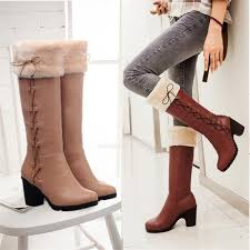 womens size 12 leather boots wholesale winter boots boots fur shoes knee high