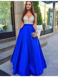 royal blue dress buy a line v neck floor length royal blue prom dress with