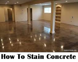 How To Stain Concrete DIY Home Improvement Make Your Boring - Concrete home floors