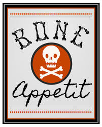 bone appetit halloween printables clean and scentsible