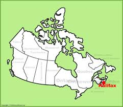 Canada On A Map Halifax Location On The Canada Map