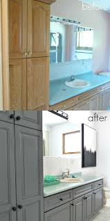 Paint Bathroom Cabinets by Best 25 Bathroom Makeovers Ideas On Pinterest Bathroom Ideas
