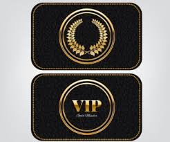 vip card template golden royal style luxury decoration vector misc