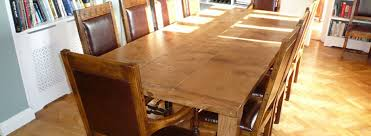 Oak Furniture Dining Tables Quercus Furniture Bespoke Handmade Dining Tables Oak Refectory