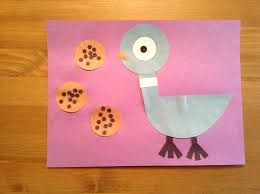 pigeon craft from the duckling gets a cookie by mo willems