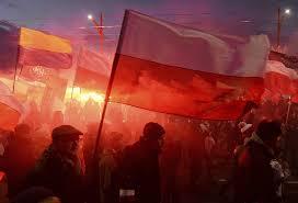 Austro Hungarian Flag Declaring U0027white Europe U0027 And U0027we Want God U0027 60 000 Join Far Right