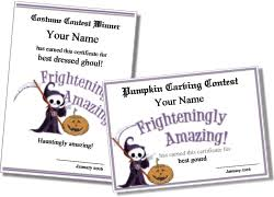 halloween certificate templates