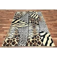 Zebra Area Rug 8x10 Leopard Print Area Rug Coffee Leopard Rug Antelope Stair Runner