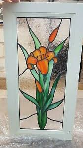 stained glass inserts for kitchen cabinet doors kitchen cabinet glass stained glass door insert window tiger lilly ebay