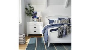 arch white full bed crate and barrel