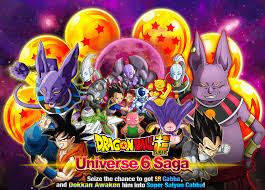 dragon ball super universe 6 saga dragon ball dokkan battle