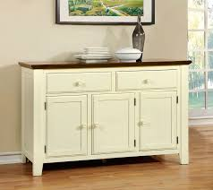 Country Buffet Furniture by Harrisburg Country Style Vintage White Dark Oak Finish Server