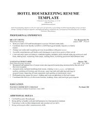 american resume sles for hotel house keeping housekeeping description for resume hotel housekeeper resume