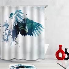 bathroom sweet peacock shower curtain for beautiful bathroom