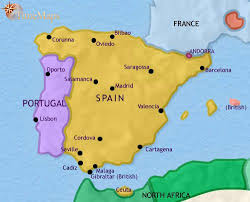 map of spain map of spain and portugal at 1789ad timemaps