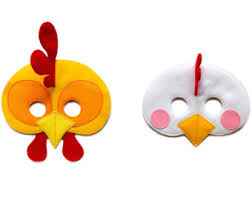 Rooster Halloween Costume Rooster Mask Etsy