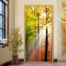 wall stickers uk wall art stickers kitchen wall stickers wd10017 forest lights door mural