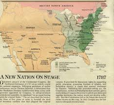 Manifest Destiny Map Of The British Colonies In North America 17631775 Of The British