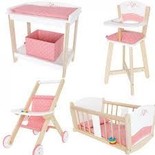chaise haute poup e poussette poupon armoire poupée lit poupee et chaise haute poupon