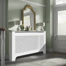 richmond large white painted radiator cover large white pig