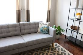 Button Tufted Sofas by How To Tuft Button Your Ikea Karlstad Cushions Youtube