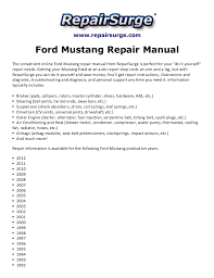 2012 mustang manual ford mustang repair manual 1990 2012