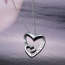 friendship heart heart pendant necklace women my my friend letter