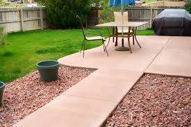 colored concrete patio stunning patio ideas on patio swing home