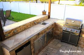 Outdoor Kitchen Furniture Our Diy Outdoor Kitchen This Grey House