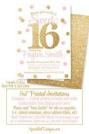 sweet 16 invitations sweet 16 invitations pink and gold glitter sweet sixteen