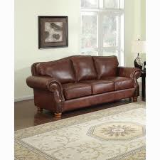 Leather Sofa Italian Brandon Distressed Whiskey Premium Top Grain Italian Leather Sofa