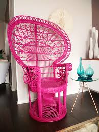 Cane Peacock Chair For Sale Pink Peacock Chair It Would Be Cool To Paint It Black The Dry