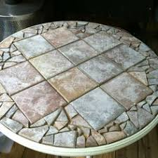 Round Glass Table Tops by Diy Replace Glass Tabletop With Tile For Under 15 Tabletop