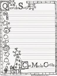 free printable writing paper to santa letter to santa this one is fun because you can color it too