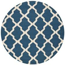 6 X 6 Round Area Rugs by Safavieh Cambridge Navy Blue Ivory 6 Ft X 6 Ft Round Area Rug
